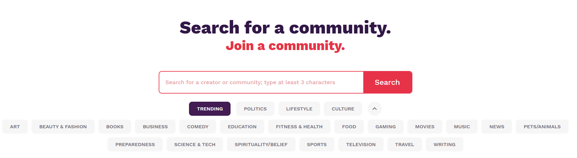 Discover new creators and communities on Locals.com